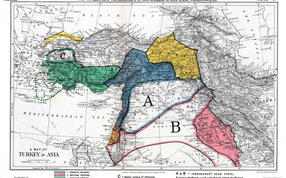 mappa Sykes Picot
