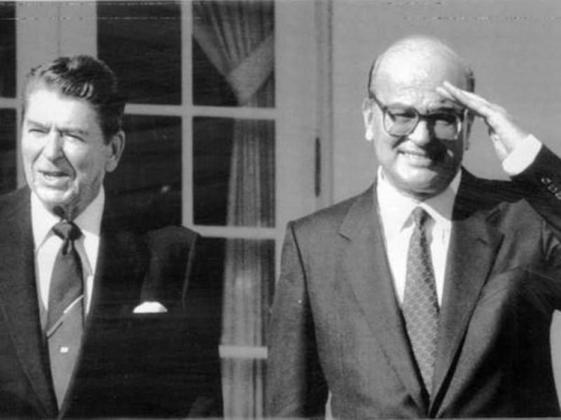foto: Ronald Reagan e Bettino Craxi